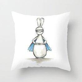 Captain Bun - Superhero Bunny Throw Pillow