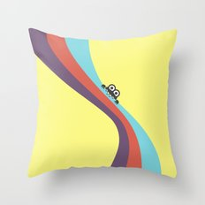 Funny Bug Bites Candy Colored Stripes Throw Pillow
