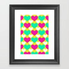 Happy hearts Framed Art Print