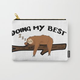 Sloth Chilling Sleeping Work Office Lazy Carry-All Pouch