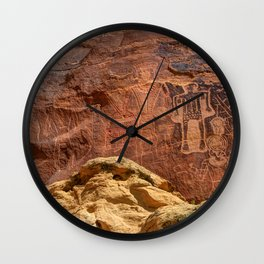 Three Kings Petroglyph - Mcconkie Ranch - Utah Wall Clock