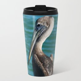 Pelican On A Pole Travel Mug