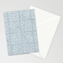 Mess Pattern Gray Stationery Cards