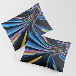 flow of neon lines in a tube Pillow Sham