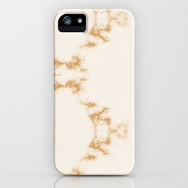 Golden Marble Pattern iPhone Case