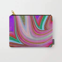 Pink and Purple Abstract Digital Art Carry-All Pouch