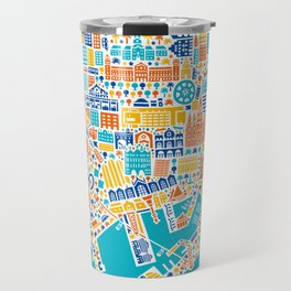 Vianina Barcelona City Map Poster Travel Mug