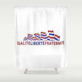 Bastille Day Shower Curtain