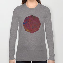 Marbling 3, Tie Dye Effect Abstract Pattern Long Sleeve T-shirt