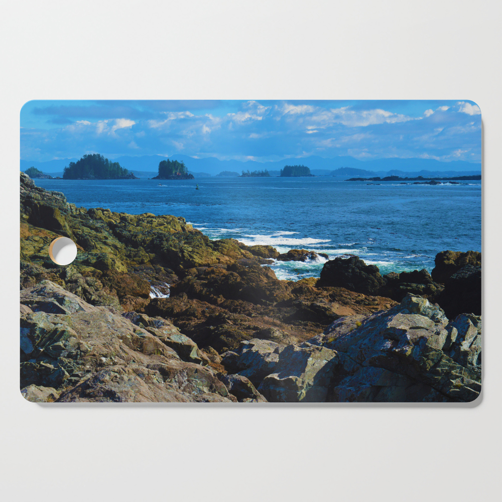 The Pacific Ocean As Seen From The Wild Pacific Trail On Ucluelet, Bc Cutting Board by western_wanderlust