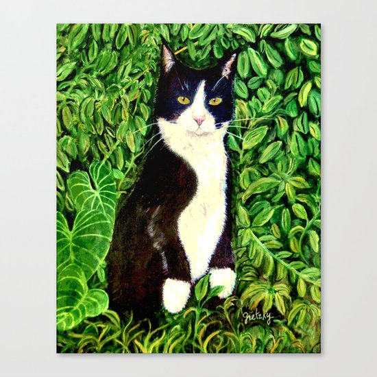 Kitty in the Woods Canvas Print
