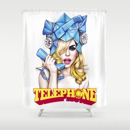 Telephone Shower Curtain