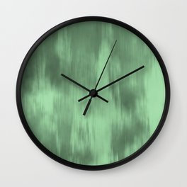 Pastel Mint Green Fusion Watercolor Blend Pairs to Coloro 2020 Color of the Year Neo Mint 065-80-23 Wall Clock