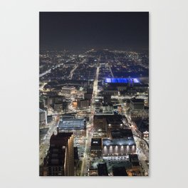 Brush Street, Detroit, From Above Canvas Print