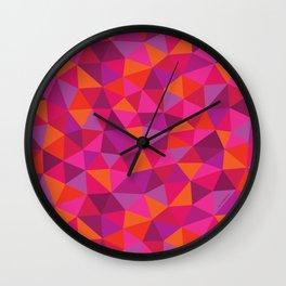 Prismatic Pattern Wall Clock