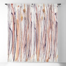 Purple and Gold Rain Forest #3 Blackout Curtain