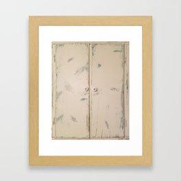 Shabby Chic, Cabinet Doors, Doors Framed Art Print