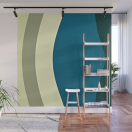 retro shapes Wall Mural