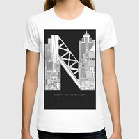 nyc T-shirts featuring NYC  by Robert Farkas