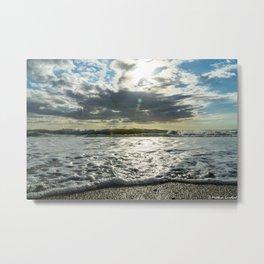 Waves North Sea Noise Denmark Hvide Sande Beach Metal Print