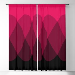 Bright red to Black Ombre Signal Blackout Curtain