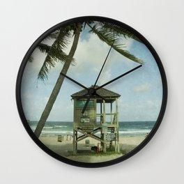 Lifeguard Shack Wall Clock
