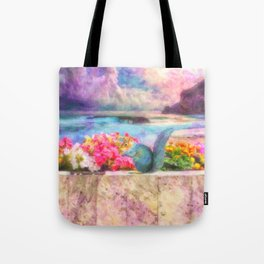Looking Out To Sea - Painting - by Liane Wright Tote Bag