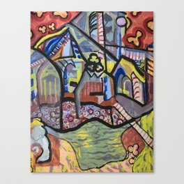 The Church at Auvers a la Mela Canvas Print