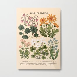 Wild Flowers ~ vol3. ~ light Metal Print