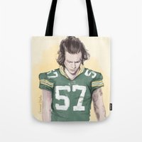 coconutwishes Tote Bags featuring Harry is Packers AF by Coconut Wishes