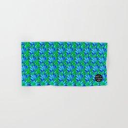 Cannabis Print Green and Blue Hand & Bath Towel