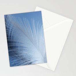 Feather in the clouds Stationery Cards