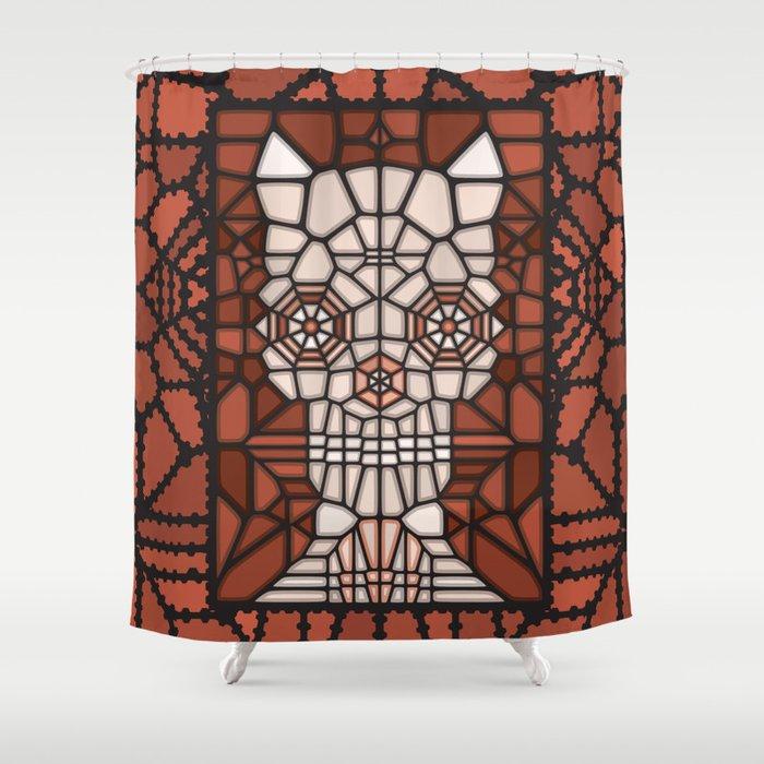 Demon skull voronoi Shower Curtain