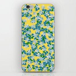 Summer Flowers Yellow iPhone Skin