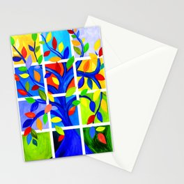 Tree of Life, bright colors Stationery Cards