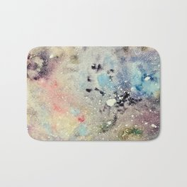 Rainbow Sherbert Space Galaxy Bath Mat