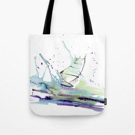 Windurfer - Surfart in watercolor - Surf Decor Tote Bag