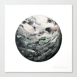 Dark Geode Canvas Print