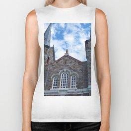 Church and Clouds Biker Tank