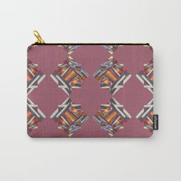 Pink Pinwheel Pattern Carry-All Pouch