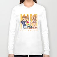 one piece Long Sleeve T-shirts featuring Sexy Nami - One Piece by feimyconcepts05