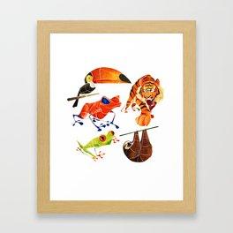 Rainforest animals 2 Framed Art Print