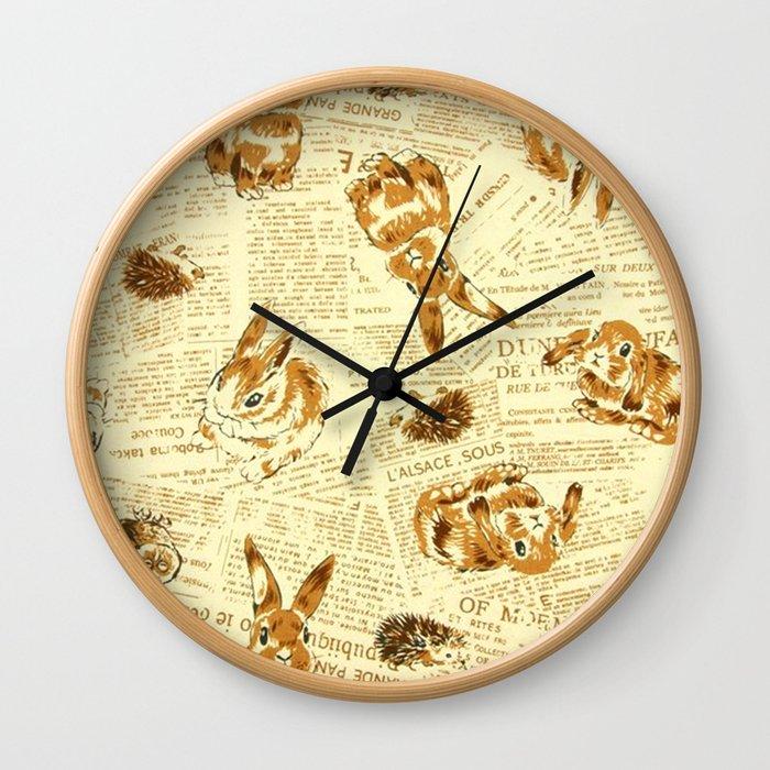 Baby Animals   #Society6  #decor   #buyart Wall Clock