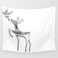 bambi Wall Tapestries featuring Bambi by Moran Bazaz