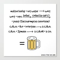 beer Canvas Prints featuring Beer by science fried art