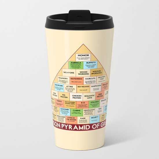 ron swanson's pyramid of greatness Metal Travel Mug