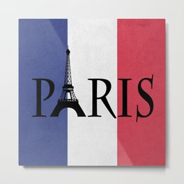 Grunge Paris Metal Print