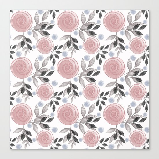 Delicate floral pattern. Canvas Print