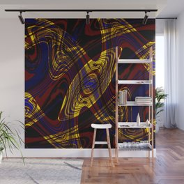 Red, Blue and Yellow Dance Party Wall Mural