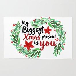 Merry Christmas Xmas Eve Holiday Season Santa Claus Navidad Regalo Present Gift Loved One Rug